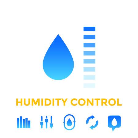 humidity control icons Illustration