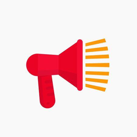 loudspeaker, megaphone vector icon Illustration