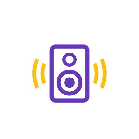 audio speaker icon on white