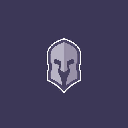 Spartan helmet logo concept for gym, fighting club, sport team Çizim