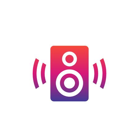 audio speaker vector icon