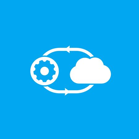 cloud technology icon, vector