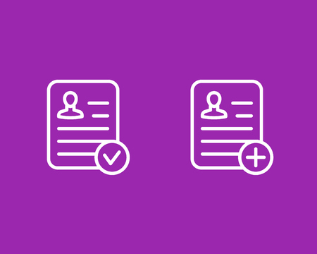 resume icons, vector, linear style Illustration