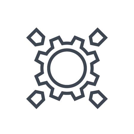 Integration linear icon