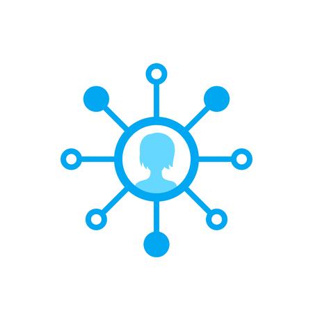 stockholder vector icon on white