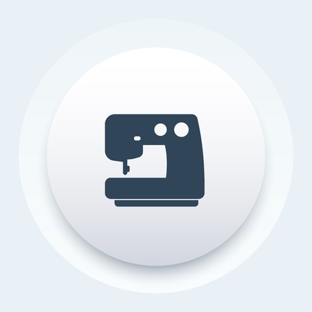 sewing machine vector icon Illustration