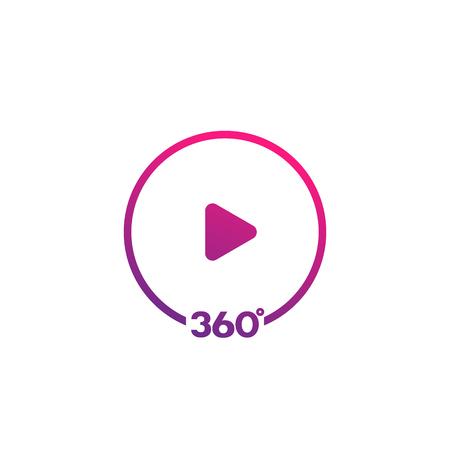 360 degrees video icon Vettoriali