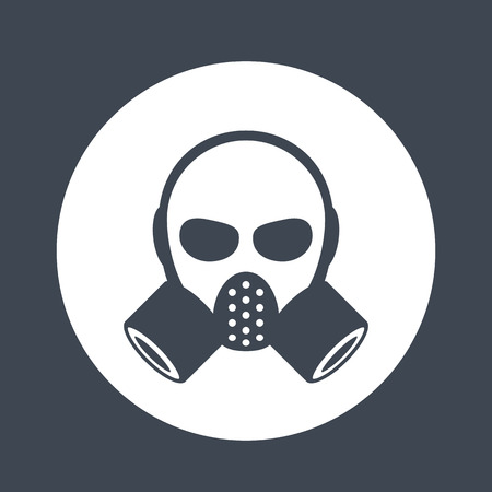 Gas mask, respirator icon, sign over white