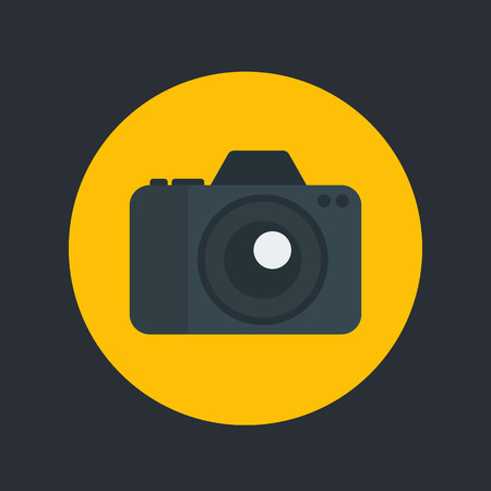 camera icon in flat style symbol