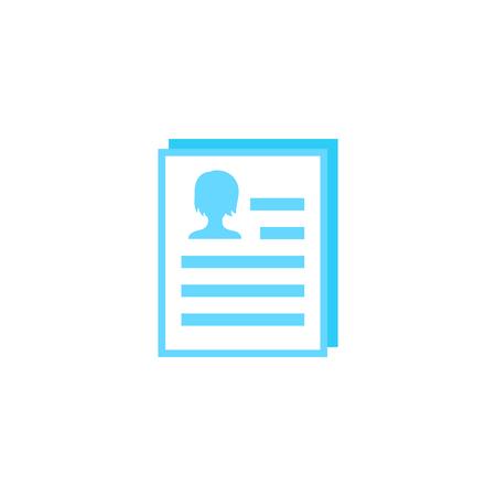 resume icon on white
