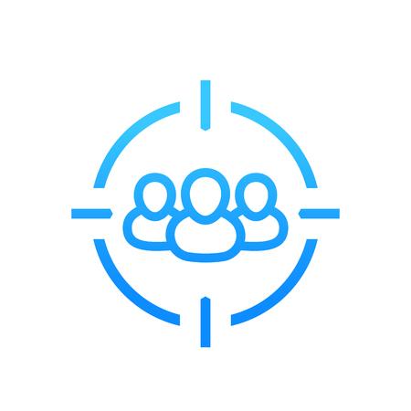 target audience icon on white Illustration