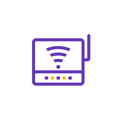 Router icon, modem pictogram 向量圖像