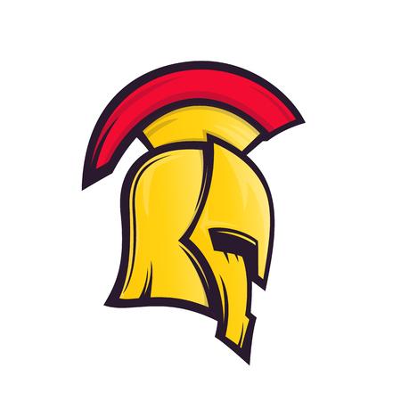 spartan helmet vector illustration