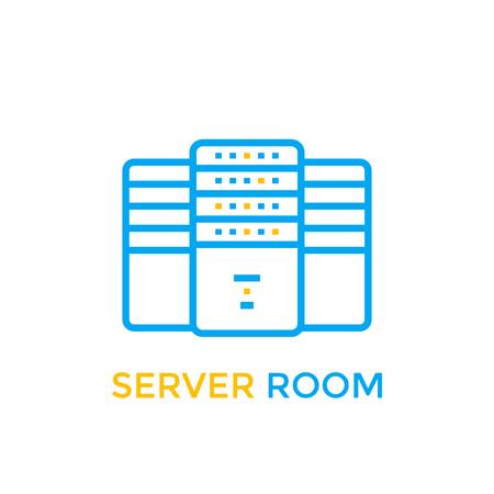 data center, server room icon Illusztráció