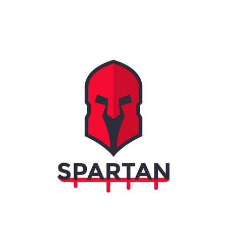 Spartan helmet, vector logo concept