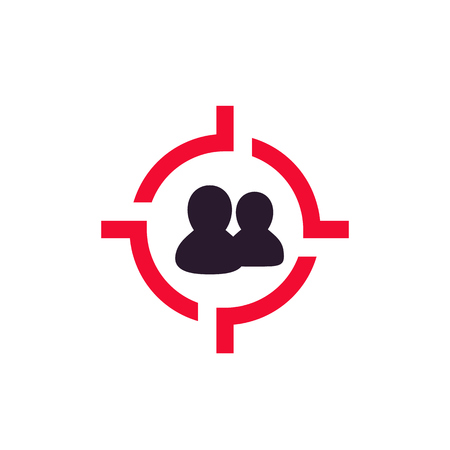 Target audience icon, vector pictogram Illustration