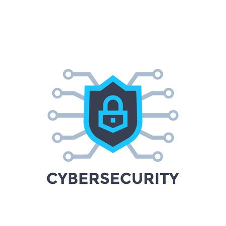 Cyberveiligheidsvector met schild