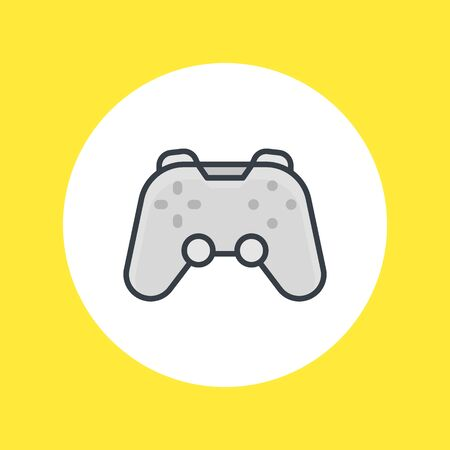 Game pad icon on white, vector illustration