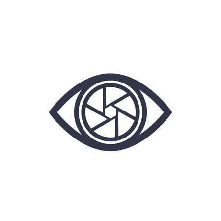 Eye with aperture icon Ilustração