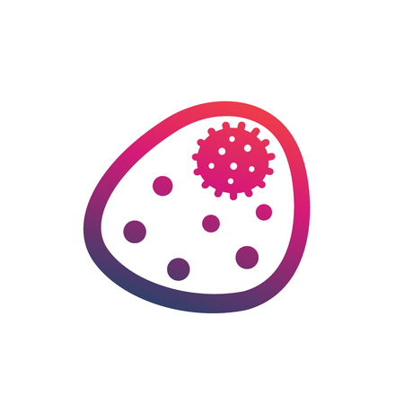 bacterium vector icon over white