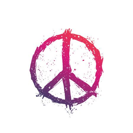 Illustration vectorielle de signe de paix Banque d'images - 92849830