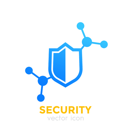 Security icon with shield.