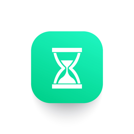 sand clock vector icon Иллюстрация