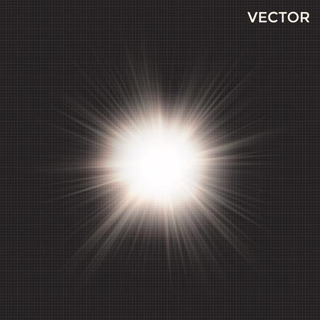 starburst vector, transparent light effect