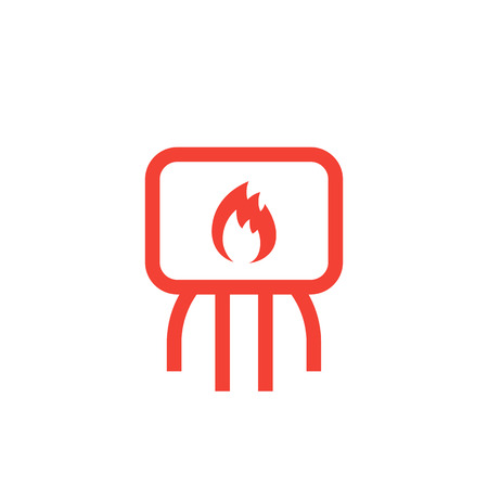 heating system icon on white
