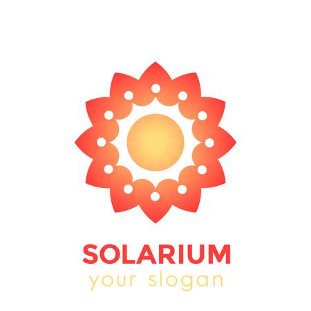 logotipo solarium con sol y flor