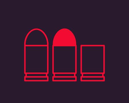 Pistol bullets vector illustration.