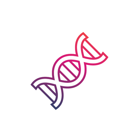 dna strand vector icon on white