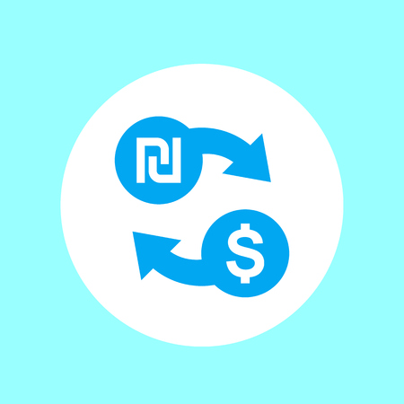 shekel to dollar exchange icon Illustration