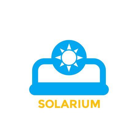 ícone de vetor de solário em branco