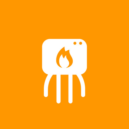 heating system icon, pictogram Illustration