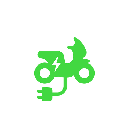 electric scooter icon on white Illustration