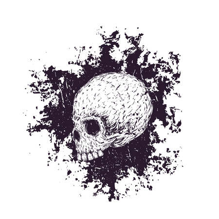 t-shirt print with skull