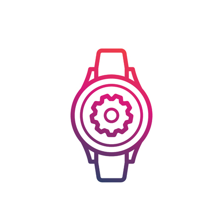 watch repair icon, vector logo