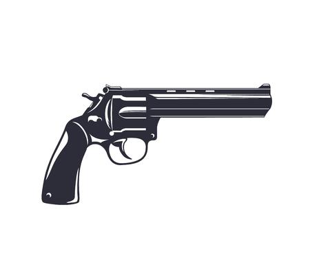 revolver, handgun, gun isolated on white