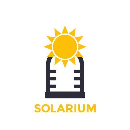 solarium icon isolated on white