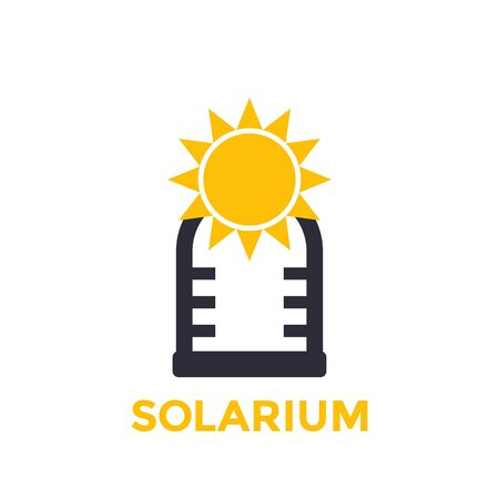 solarium icon isolated on white