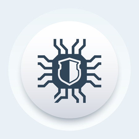 cryptography icon, vector pictogram Vettoriali