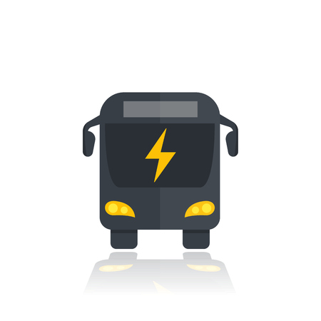 electric bus icon, modern city transport