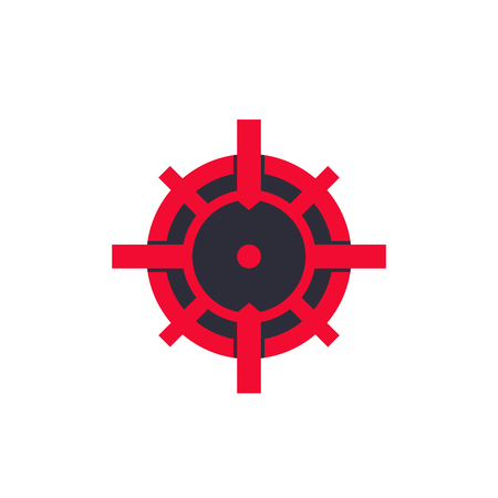crosshair vector logo Illustration