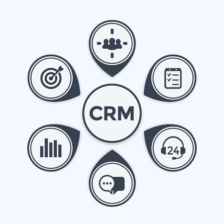 CRM, 고객 관계 관리 infographics 템플릿