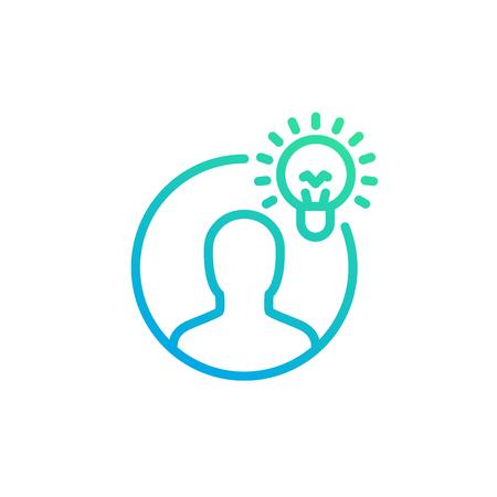 idea, insight linear icon