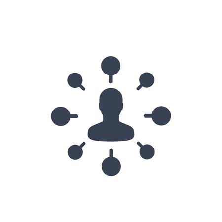 stockholder, financier icon isolated on white