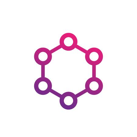 molecule icon on white