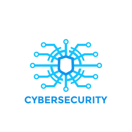 cyber security vector logo template Illustration