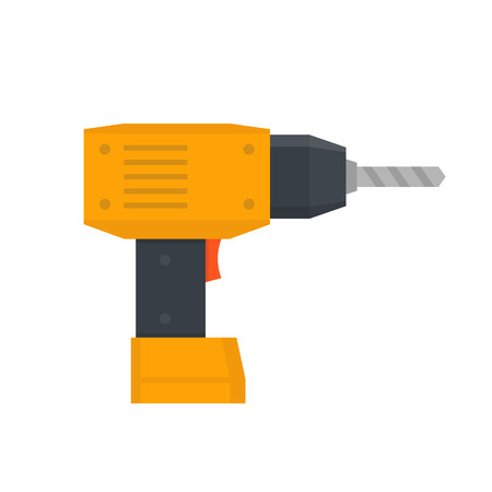 Electric screwdriver vector illustration in flat style